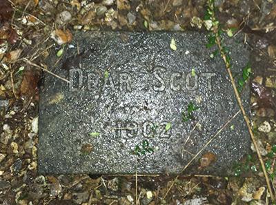 'Dear Scot' the stone reads
